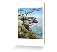 Towards Llantwit Major - South Wales coastal view Greeting Card