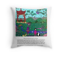 Silly China Throw Pillow