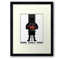 Black Knight - Monty Python and the Holy Pixel Framed Print