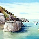 Porthgain Harbour 2, Pembrokeshire, West Wales by Helen Lush