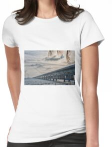 Evening Fishing at the Seven Mile Bridge Womens Fitted T-Shirt