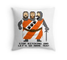Threed Headed Giant - Monty Python and the Holy Pixel Throw Pillow