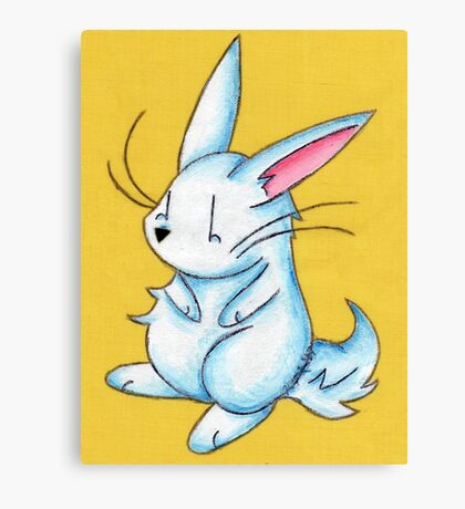 Pudgy Bunny Canvas Print