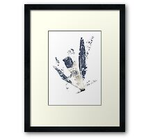 Fragile (three feathers) Framed Print