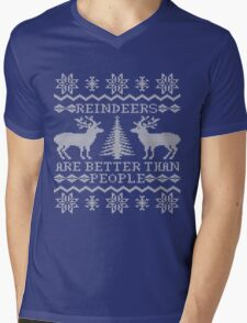 Reindeers Are Better Than People Mens V-Neck T-Shirt