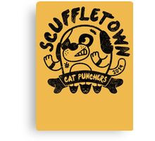 Scuffletown Cat Punchers Canvas Print