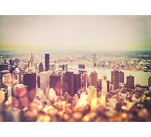 Vintage New York City Skyline Photographic Print