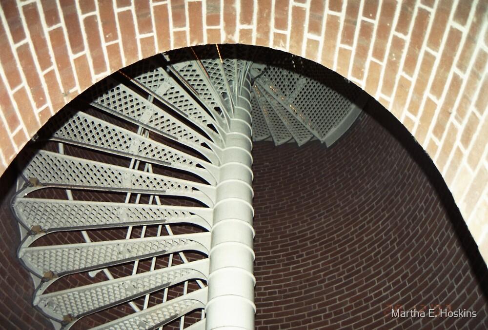 Lighthouse stairs by Martha E. Hoskins