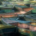 Pastel Boats by Martin  Mullen