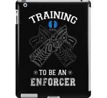 Training to be an enforcer iPad Case/Skin