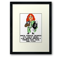 Sir Robin - Monty Python and the Holy Pixel Framed Print