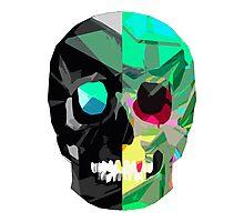 Half Black Skull Photographic Print