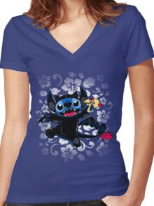 How to Train Experiment 626 Women's Fitted V-Neck T-Shirt