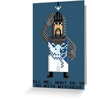 Bedevere - Monty Python and the Holy Pixel Greeting Card