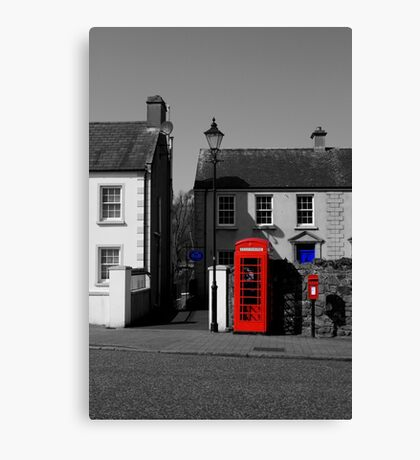Red With A Hint Of Blue Canvas Print