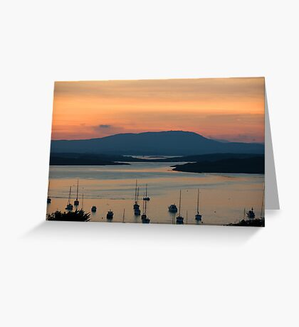 Golden Irish Sunset Greeting Card