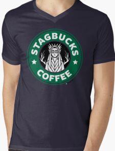 Elves at Stagbucks Mens V-Neck T-Shirt