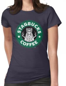 Elves at Stagbucks Womens Fitted T-Shirt