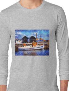 Fishing boats in a port Long Sleeve T-Shirt