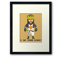 King Arthur - Monty Python and the Holy Pixel Framed Print