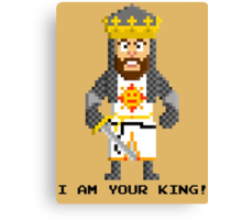King Arthur - Monty Python and the Holy Pixel Canvas Print