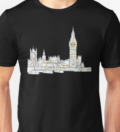 London Skyline with the tube Unisex T-Shirt