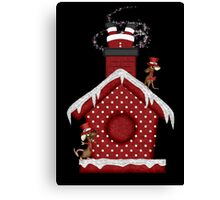 Santa`s Stuck in the Chimney Canvas Print