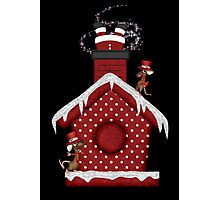 Santa`s Stuck in the Chimney Photographic Print