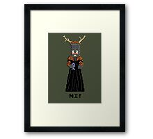 Knight of Ni - Monty Python and the Holy Pixel Framed Print
