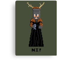 Knight of Ni - Monty Python and the Holy Pixel Canvas Print