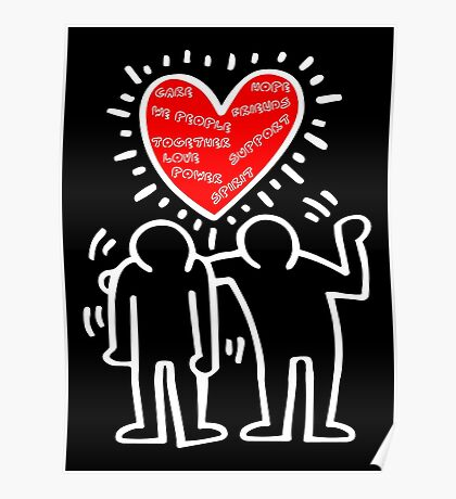 Keith Haring Care Poster