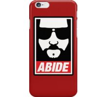 The big lebowski - Abide poster shepard fairey style iPhone Case/Skin