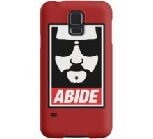 The big lebowski - Abide poster shepard fairey style Samsung Galaxy Case/Skin