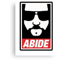The big lebowski - Abide poster shepard fairey style Canvas Print