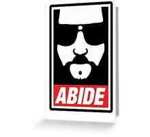 The big lebowski - Abide poster shepard fairey style Greeting Card
