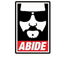 The big lebowski - Abide poster shepard fairey style Photographic Print