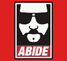 The big lebowski - Abide poster shepard fairey style by bakery