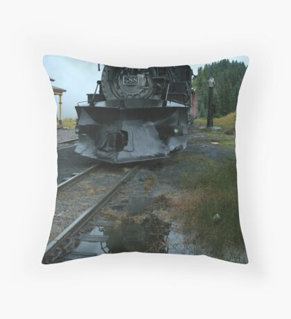 Locomotive 488 at Cumbres Throw Pillow