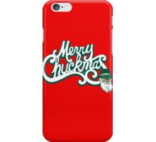 Merry Chuckmas by Tai's Tees iPhone Case/Skin