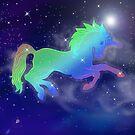 Rainbow Unicorn Sky by Cherie Balowski