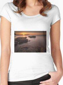 Sunset over Donegal Women's Fitted Scoop T-Shirt