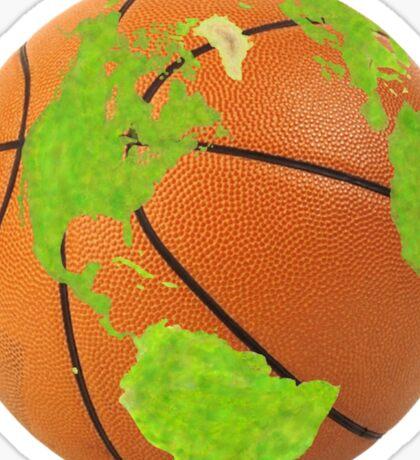 basketball earth planet globe erde globus Sticker