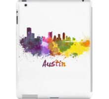Austin skyline in watercolor iPad Case/Skin