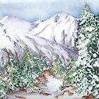 Snow mountain by ISABEL ALFARROBINHA