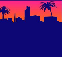 Miami Sunset T-shirt by jimmy-rage