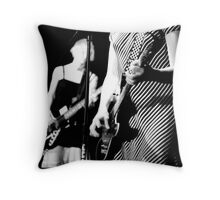 Girls Rock Throw Pillow