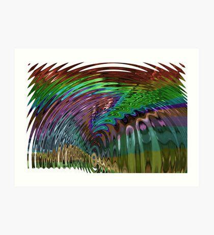 In a Frenzy Colorful Swirl Art Print