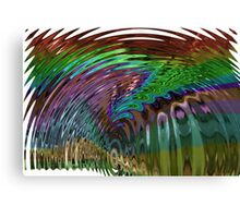 In a Frenzy Colorful Swirl Canvas Print