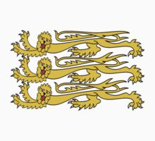 Royal Banner of England, Heraldry, Three Lions, 3 Lions, English, British, UK Kids Clothes