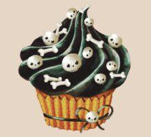 Black Halloween Cupcake T-Shirt